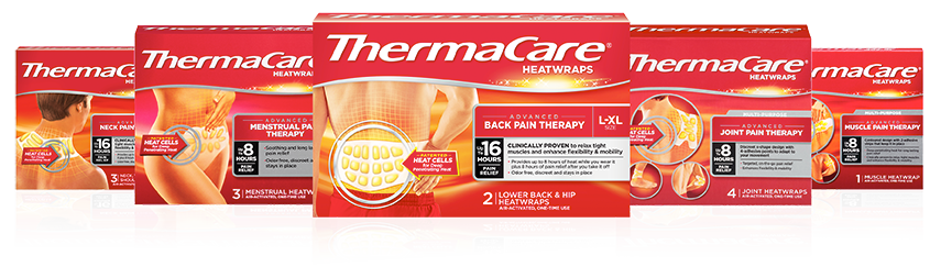 ThermaCare®: Advanced external pain relief - heatwraps for back, neck, joint, muscle and menstrual pain; pain relieving cream